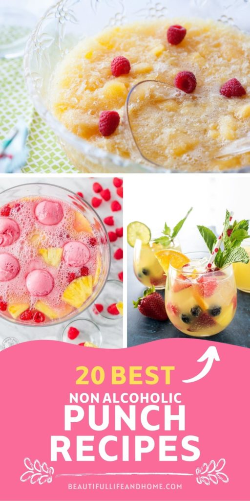 This collection of non-alcoholic punch recipes will make you the star of any party! Easy, delicious, and refreshing, these easy recipes will be loved by the whole family!