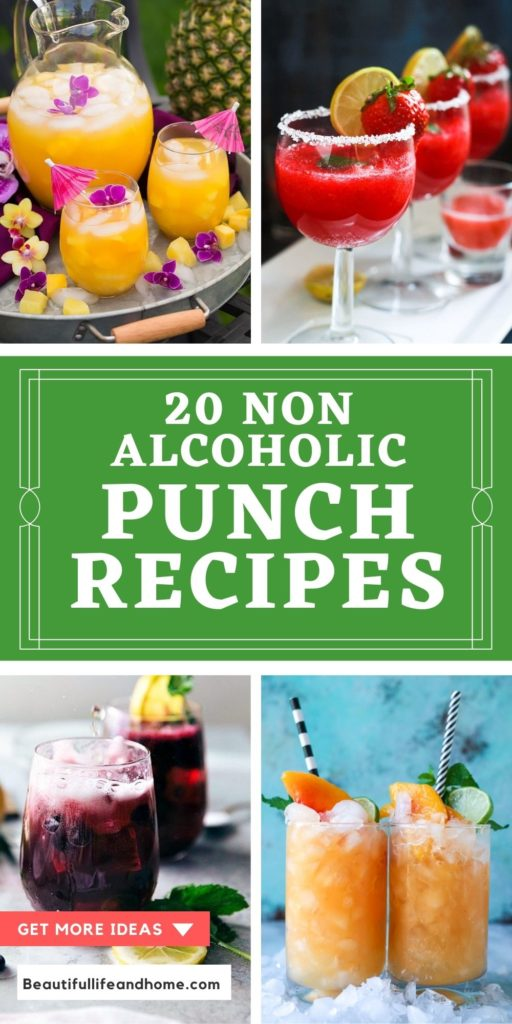 20 non alcoholic punch recipes. Easy, beautiful, and delicious punch recipes for your next party, baby shower, or barbecue!