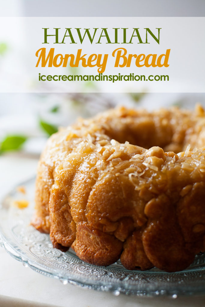 Make this Hawaiian Monkey Bread full of pineapple, coconut, and macadamia nuts for a tropical-themed breakfast or brunch!