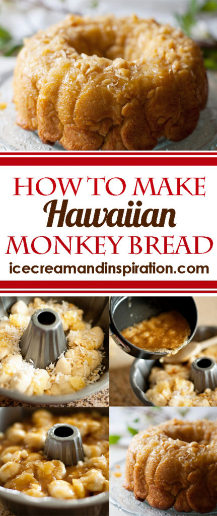 Learn how to make this delicious Hawaiian Monkey Bread. Macadamia nuts, pineapple, and coconut take this super yummy treat over the top!