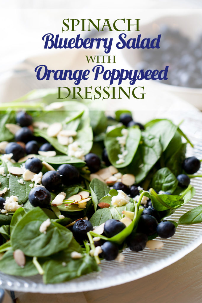 This super-food Spinach Blueberry Salad with Orange Poppy Seed Dressing is amazingly quick and easy to make, delicious and healthy.