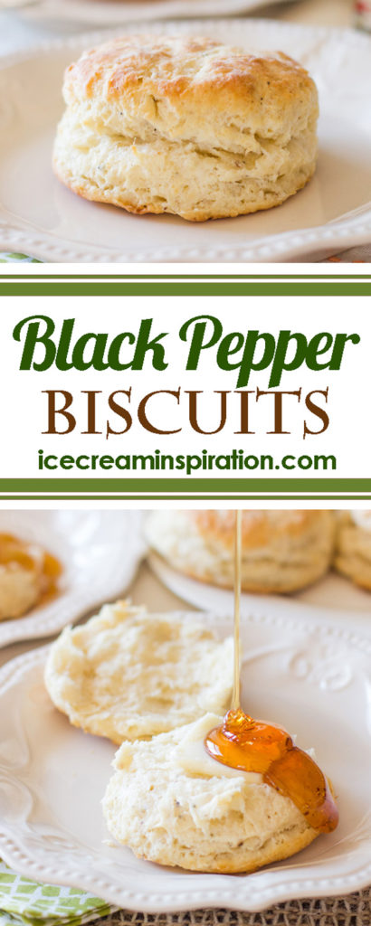 These Black Pepper Biscuits made with freshly-ground black pepper are the most heavenly biscuits you will ever eat! Way better than Kentucky Fried Chicken!