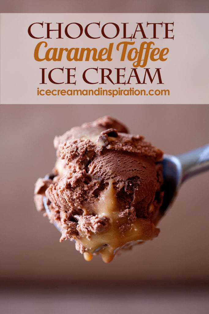 This decadent, Chocolate Caramel Toffee Ice Cream just might be the best ice cream you ever have. Home made caramel, classic chocolate ice cream, and toffee.