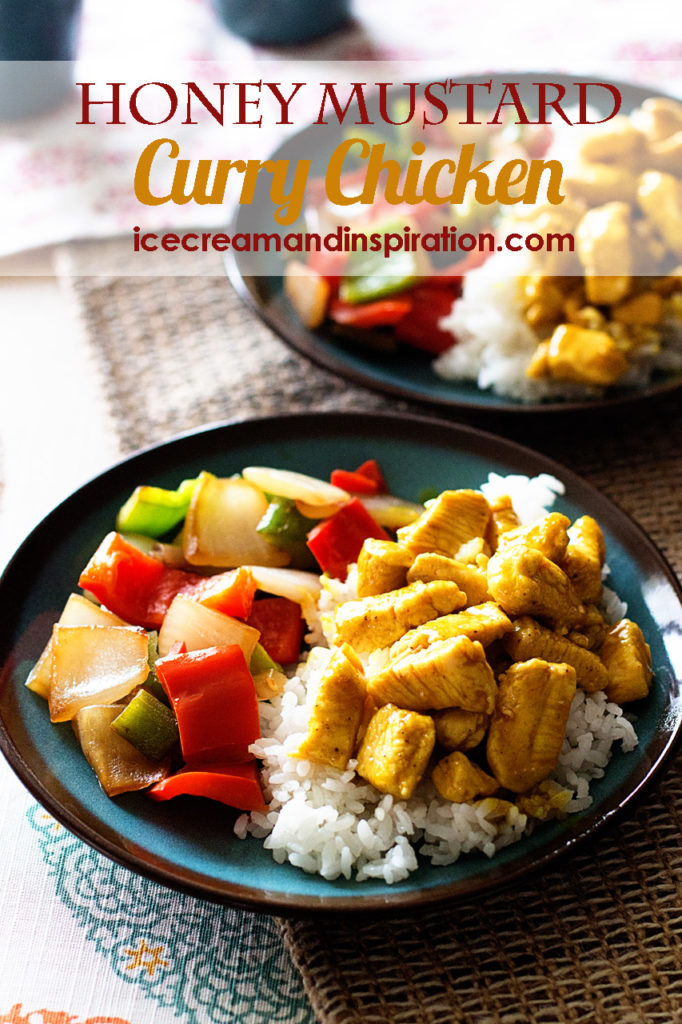 Honey Mustard Curry Chicken. A super simple chicken recipe that will have dinner on the table in only 15 minutes.