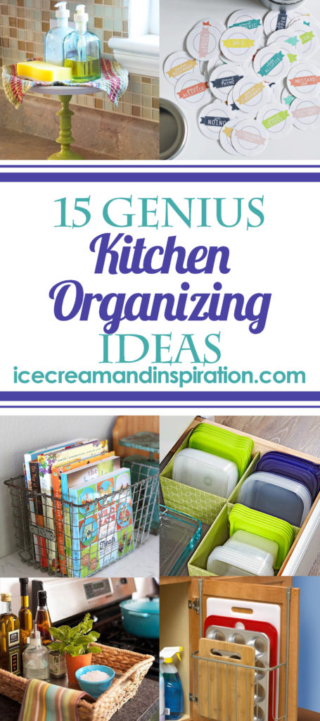 These 15 Genius Kitchen Organizing Ideas will have your kitchen looking neat and organized in no time! Cheap organizing ideas, easy organizing ideas