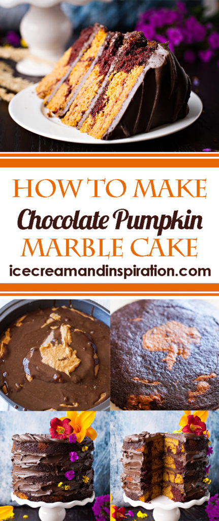 Learn how to make this amazingly delicious and moist Chocolate Pumpkin Marble Cake!