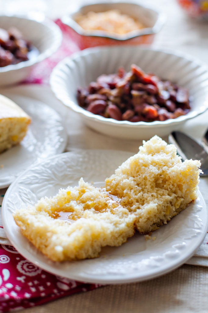 This Super Moist Cornbread will be your new favorite! Use it as a side for chili or any type of hearty soup. Perfect for the fall and winter!