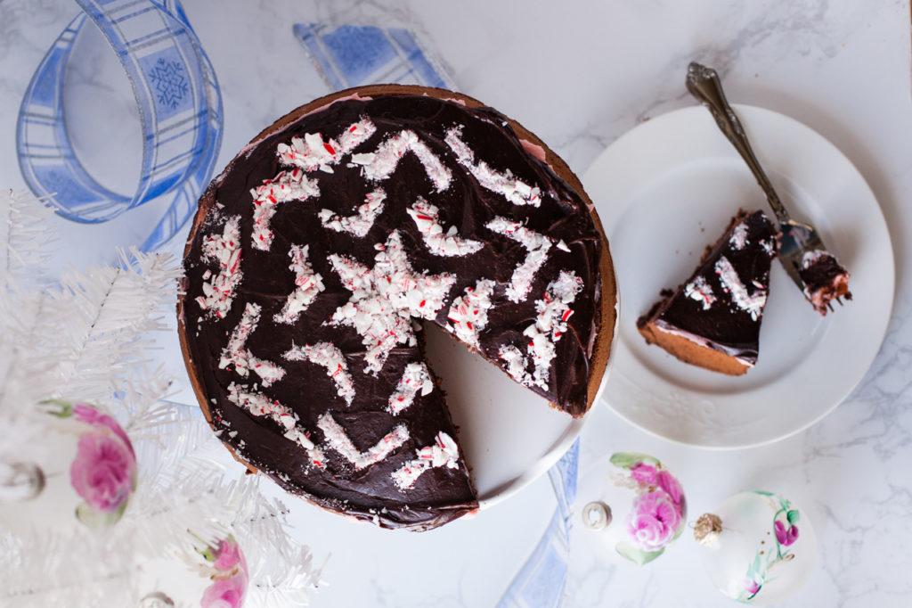 Chocolate Peppermint Cream Cake.