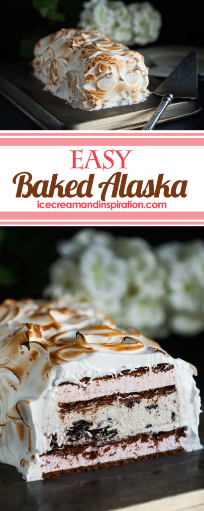 Forget the hours and hours it takes to make Baked Alaska! Make this Easy (Cheater) Baked Alaska instead for an impressive dessert everyone will love!