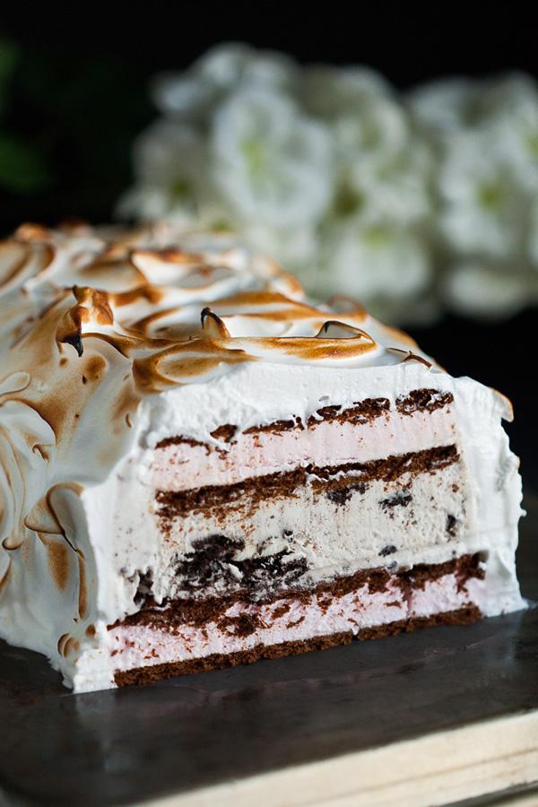 Easy Baked Alaska. Valentine's Day dessert.