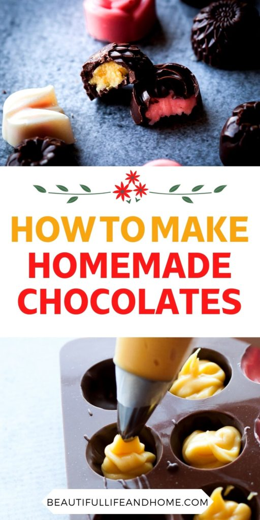 Homemade chocolates are easier than you think! The perfect gift for Christmas, Valentine's Day, or Mother's Day!