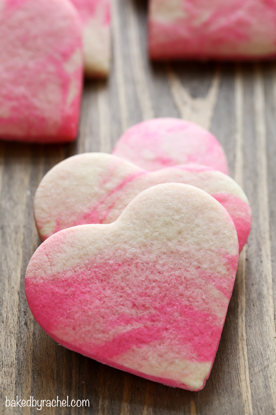 Marbled Valentine Sugar Cookies By Baked By Rachel These Are So Gorgeous They Are Like A Watercolor Painting