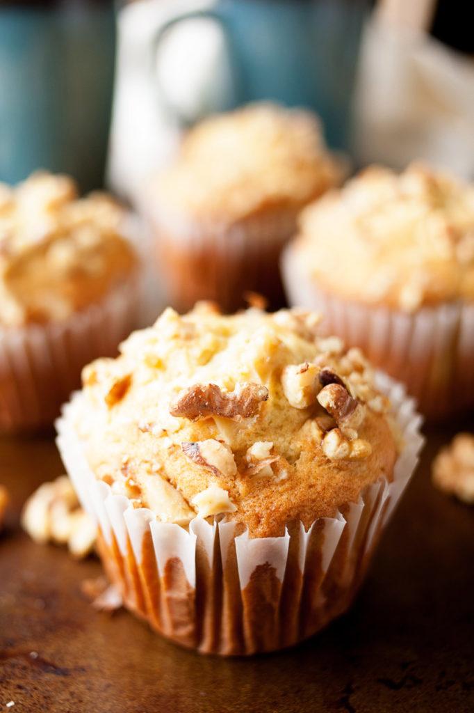 Jumbo Banana Walnut Muffins, like Costco copycat muffins