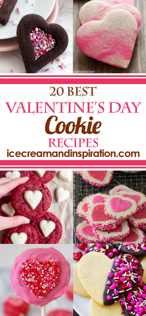 Valentine's Day is just around the corner! That means lots of pink hearts are in order! Peruse this collection of 20 Best Valentine's Day Cookie Recipes for classic and imaginative cookies sure to make Valentine's Day special!