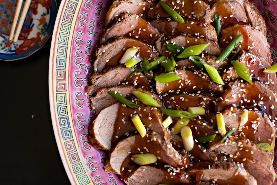 Chinese Pork Loin with Honey Garlic Sauce. Perfect Asian pork loin recipe!