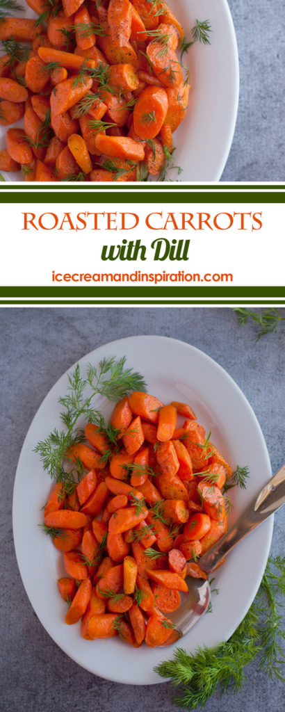 These Roasted Carrots with Dill are the easiest, quickest, yummiest, healthiest side you could ever whip up! Just five simple ingredients and 20 minutes in the oven are all it takes!