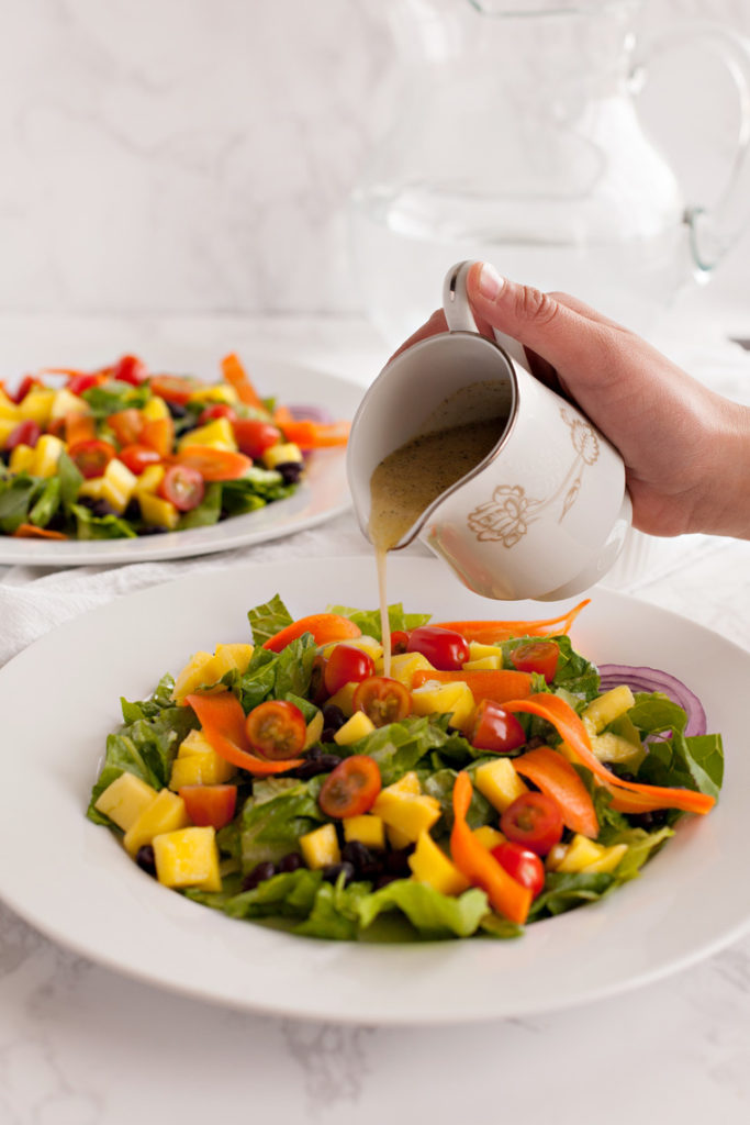 Mango Black Bean Salad. The perfect black bean recipe with a tropical flair!