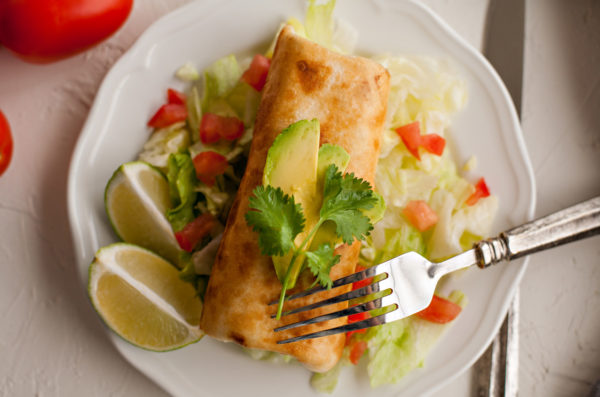 Chimichangas with Chicken, Pork, or Beef