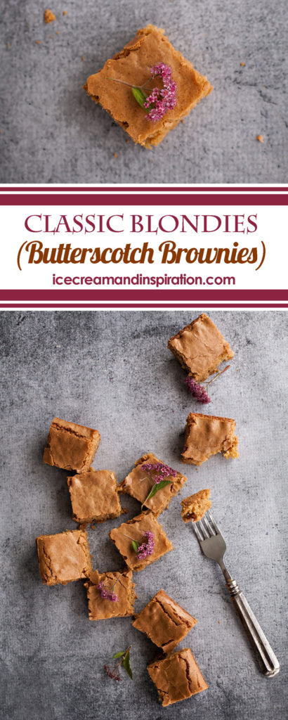 Whether you call them Classic Blondies or Butterscotch Brownies, you need this Best Blondie Recipe Ever in your life! Perfect to whip up at the last minute for any occasion, this chewy blondies recipe is a must-have for everyone!