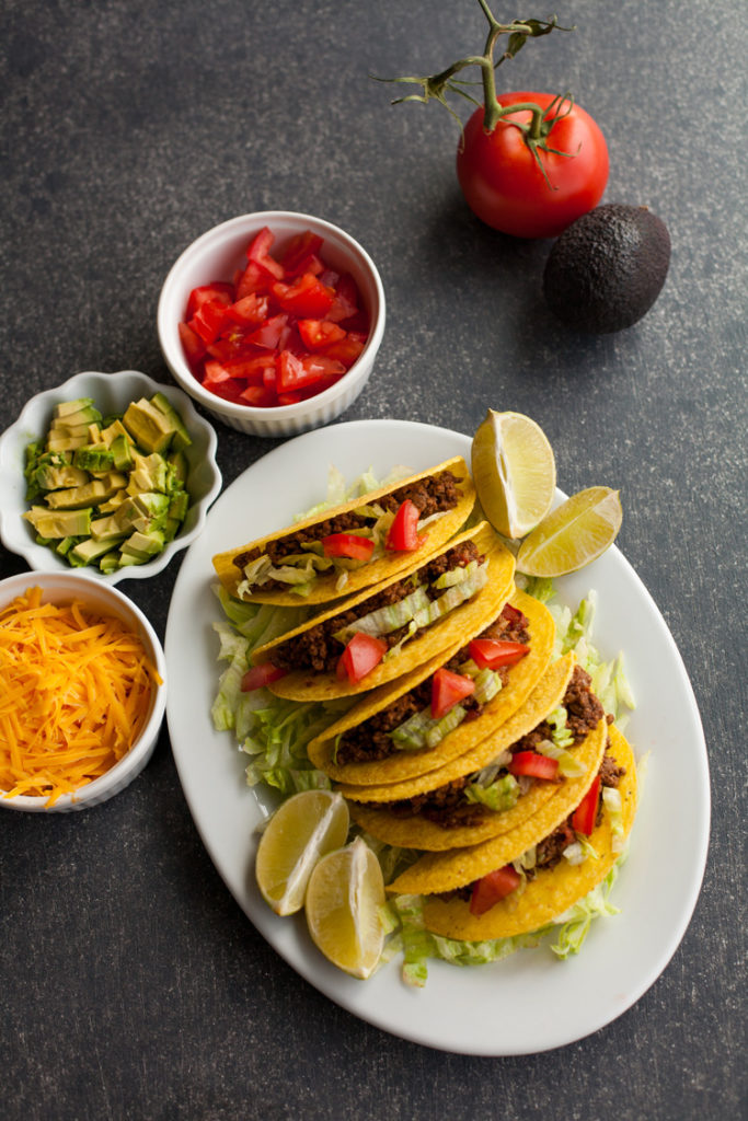 Delicious Sweet and Spicy Ground Beef Tacos with just a touch of sweet and a touch of heat!