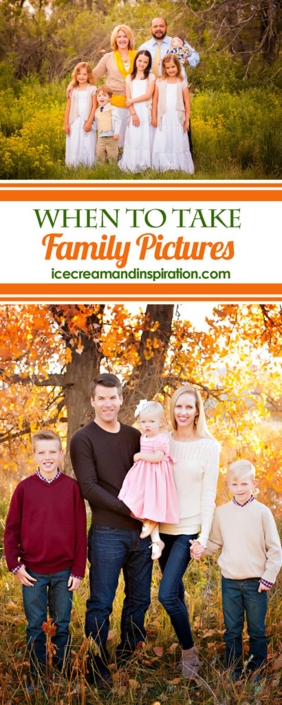 When is the best time to take family pictures? In this post by a Certified Professional Photographer, you'll learn the best times of year and best times of day to schedule your family photo shoot. Plus, get your cheatsheet with all the tips to take to your next photo session.