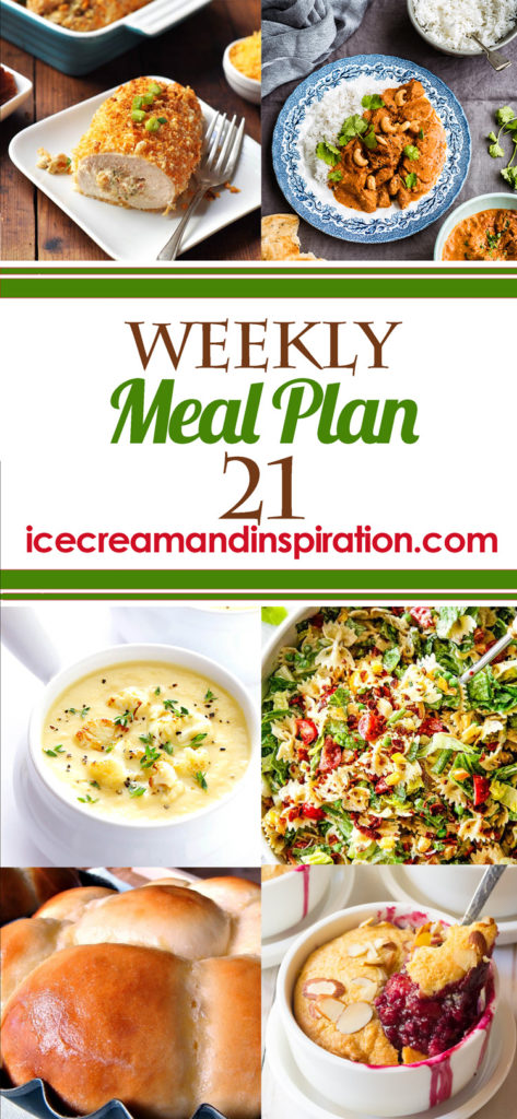 This week's meal plan has recipes for Upside Down Pizza Casserole, Easy Chicken Pad Thai, Chili Lime Steak Tacos, Slow Cooker Indian Butter Chicken Curry, and more! Plus, recipes for bread and dessert.