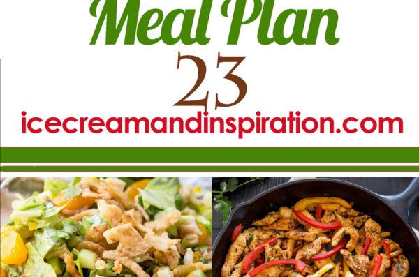 Weekly Meal Plan 23