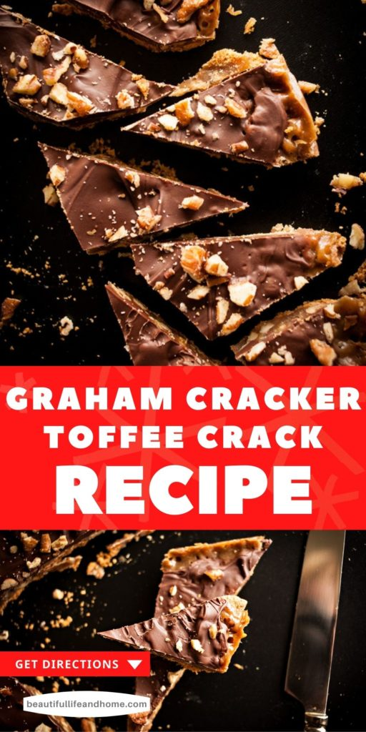 Sometimes known as Turtle Graham Bars, Graham Cracker Toffee Bark, or Graham Cracker Toffee Brittle, this holiday treat is super simple to make, and even easier to eat! It's like English Toffee with the added flavor and crunch of graham crackers!