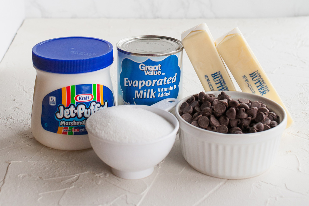 The five simple ingredients for See's Fudge.