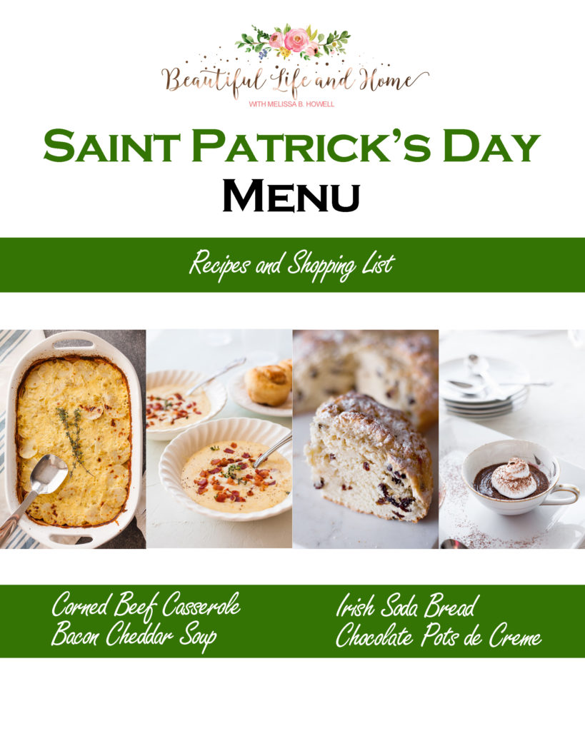 Saint Patrick's Day Menu