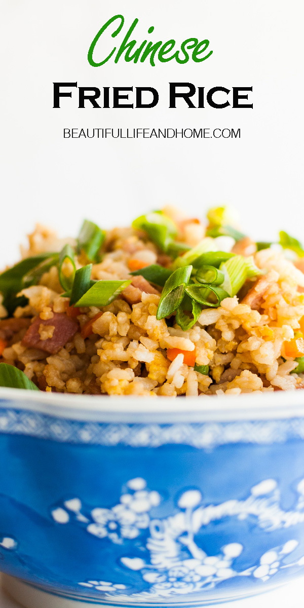 If you're looking for restaurant style Chinese Fried Rice, or a super easy Fried Rice recipe, you've come to the right place! This is the perfect recipe to whip up using leftover chicken, ham, or bacon!