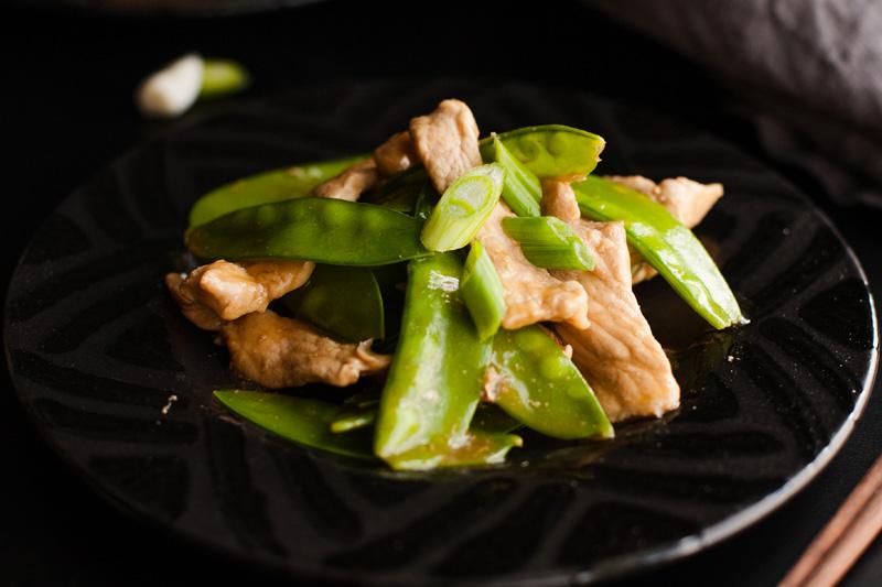 Chinese Pork Stir Fry with Snow Peas