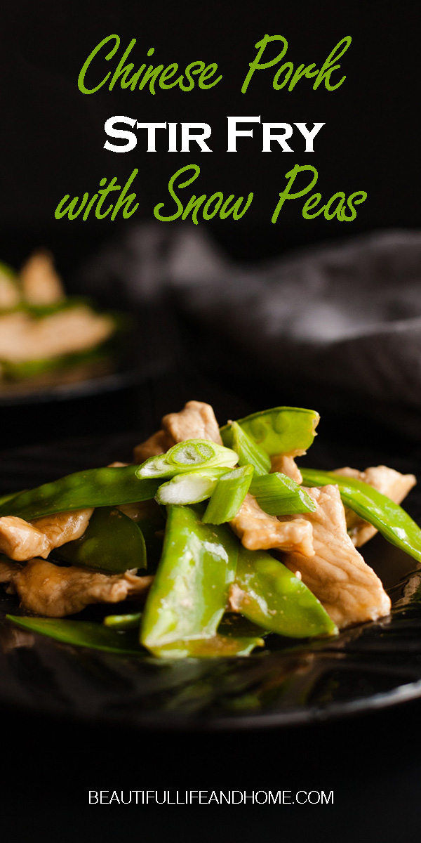 If you're looking for recipes for snow peas or an amazing Chinese pork stir fry recipe, you've hit the jackpot with this Chinese Pork Stir Fry with Snow Peas! Tender pork, crispy snow peas, and a delicious sauce all combine to make this dish a hit!