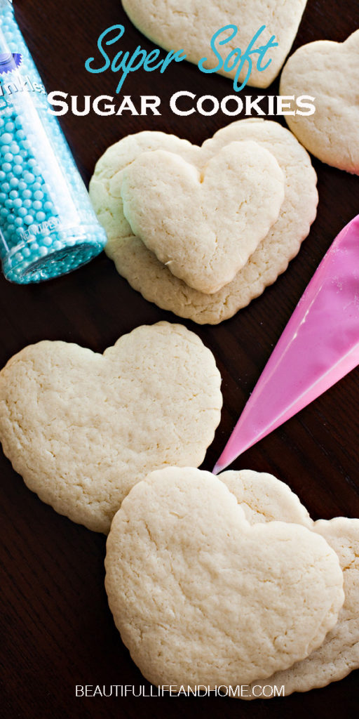 What's the secret ingredient in this Soft Sugar Cookies recipe? It's sour cream! Keeps your cookies soft for days on end! Decorate with icing, or eat them plain if you just can't wait!