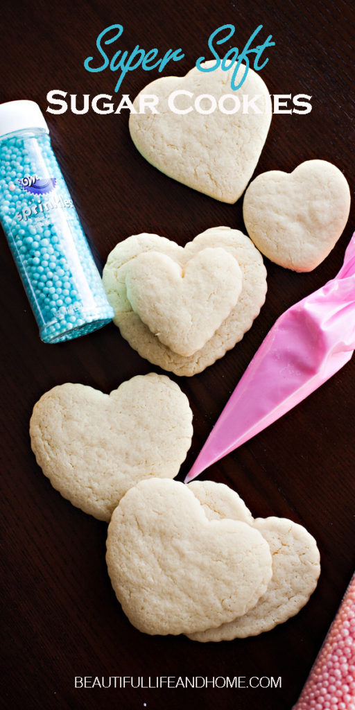 What's the secret ingredient in this Soft Sugar Cookies recipe? It's sour cream! Keeps your cookies soft for a full week! No shortening or other yucky ingredients!