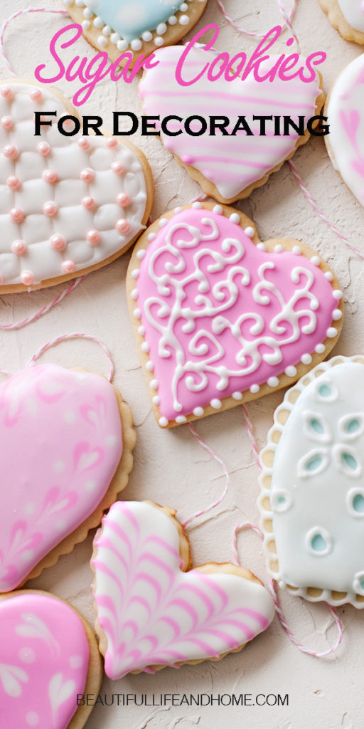 If you're looking for a recipe for sugar cookies for decorating, you've come to the right place! Whether you want sugar cookies for royal icing, or sugar cookies to decorate with buttercream, this recipe will never let you down! The cookies turn out flat and smooth and hold their shape in the oven. These sugar cookies are the perfect canvas for any kind of decorating!