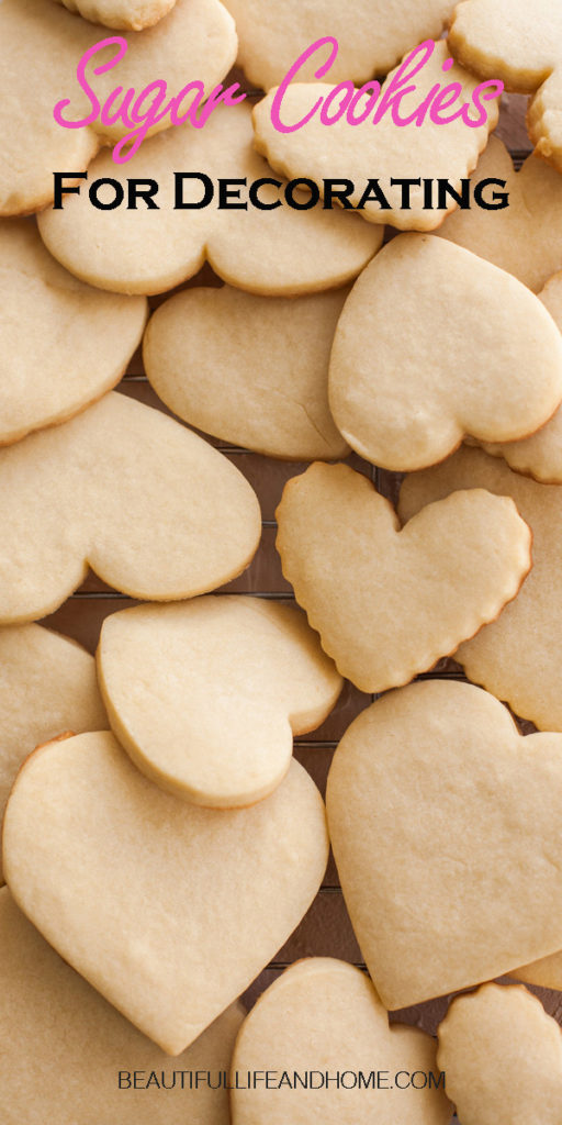 If you're looking for a recipe for sugar cookies for decorating, you've come to the right place! The perfect sugar cookies for royal icing, or sugar cookies to decorate with buttercream.The cookies turn out flat and smooth and hold their shape in the oven.