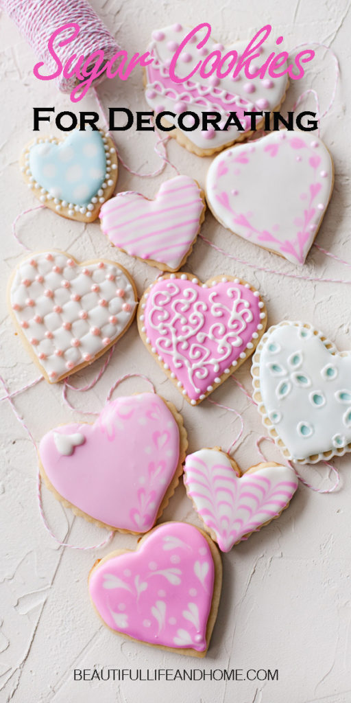 The perfect recipe for sugar cookies for decorating! These cookies have a flat canvas for royal icing or buttercream and hold their shape in the oven.