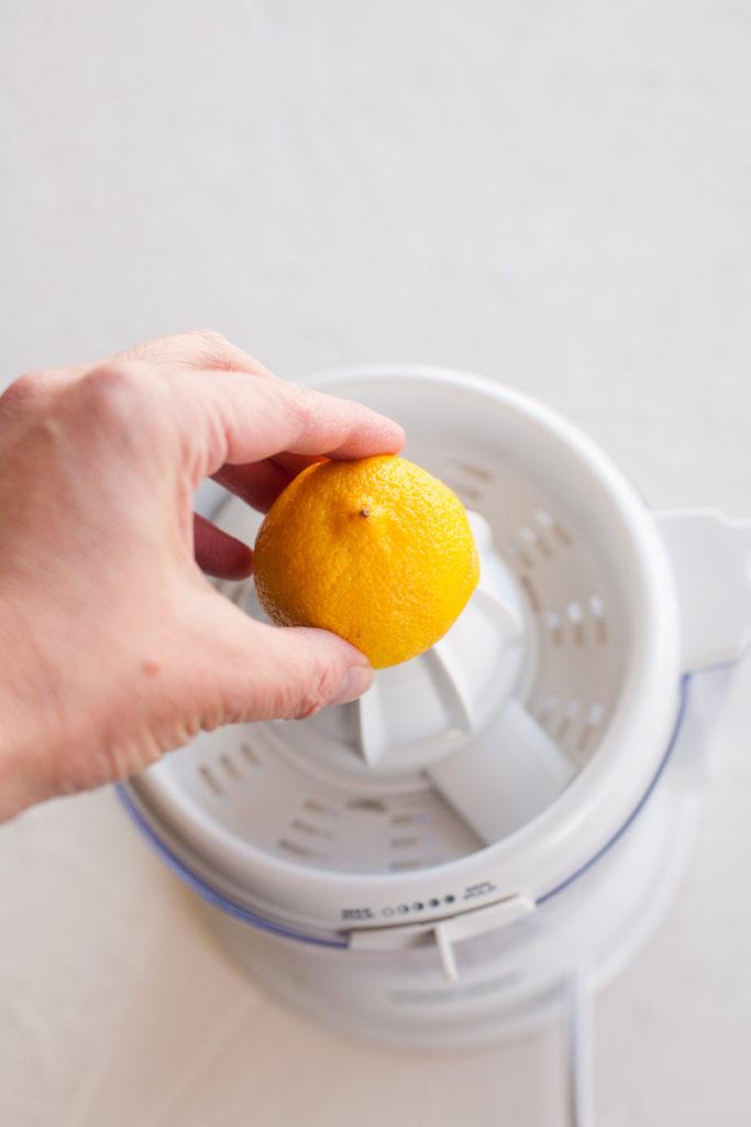 Citrus juicer with lemon for fresh squeezed lemonade