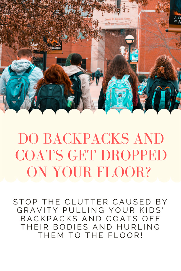 When your kids walk through the door, do they just drop their backpacks and coats on the floor? There's a simple solution to this problem! Read the post to find out!