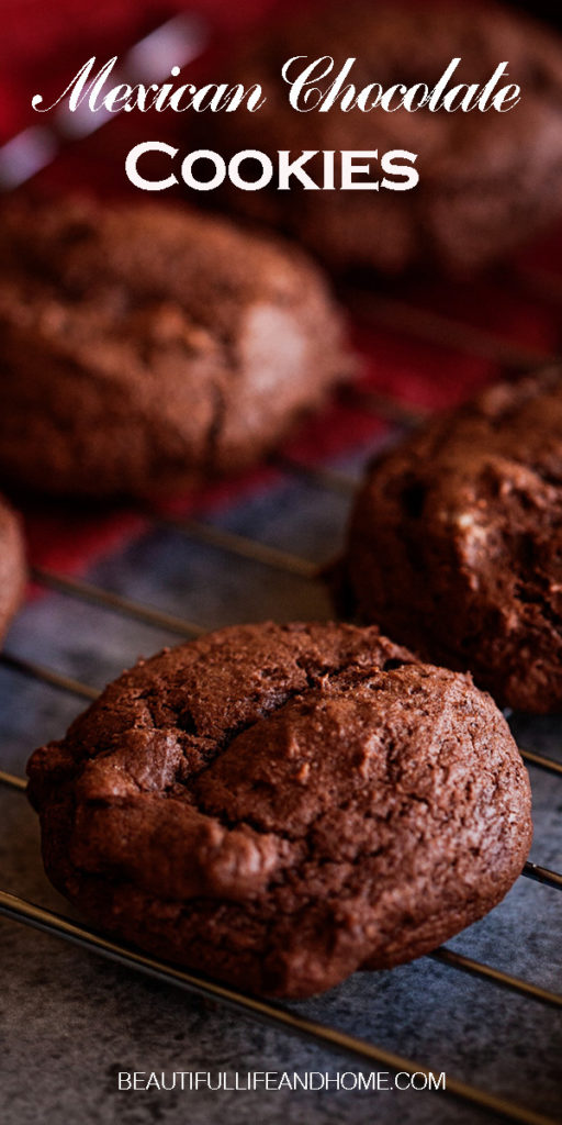 Get your Mexican Chocolate Cookies with chocolate chips, cinnamon and cayenne pepper right here! The perfect dessert for Cinco de Mayo, or when you're craving something spicy and sweet!
