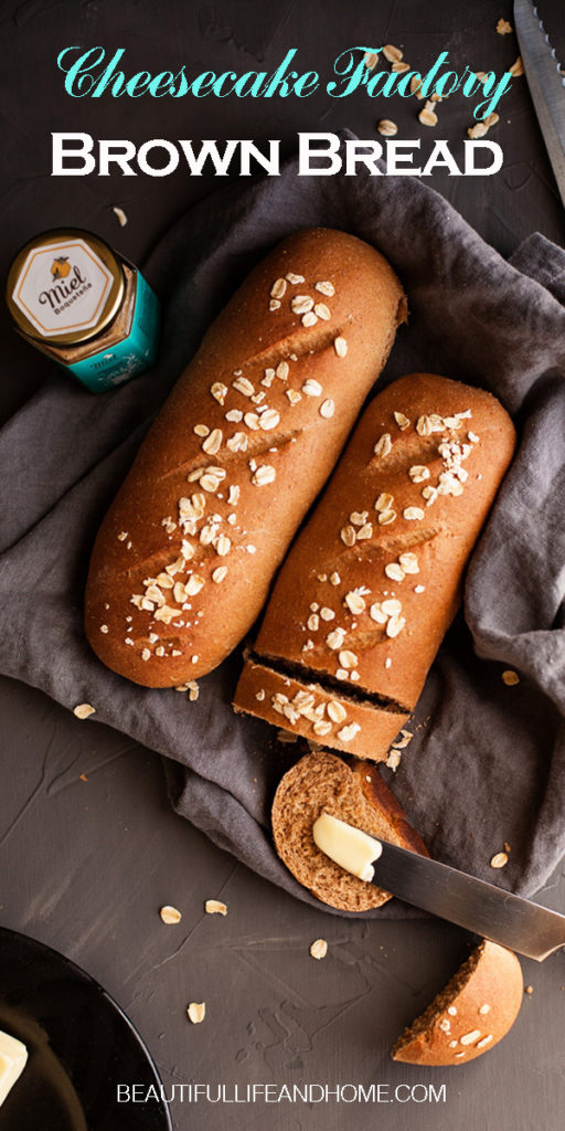 Cheesecake Factory Copycat Brown Bread Recipe! This honey wheat bread with CHOCOLATE is so amazing! Get the recipe now!