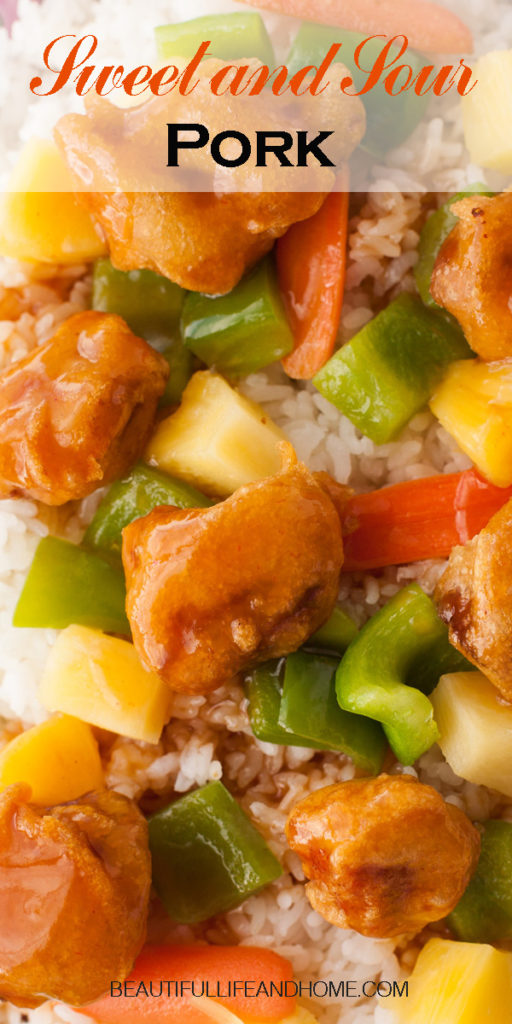 Make authentic Chinese Sweet and Sour Pork at home! Get my tips and tricks for perfectly crispy pork, smothered in a delectable sauce with pineapple and peppers. Better than takeout!