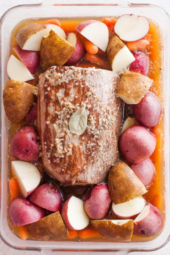 How to prepare a pot roast.