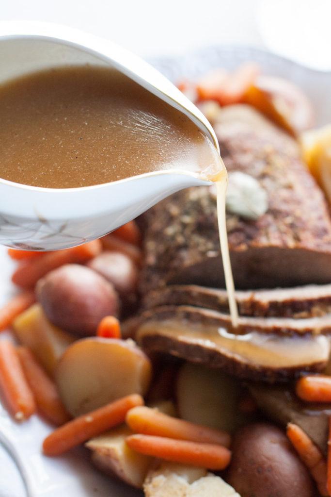 Gravy for pot roast.