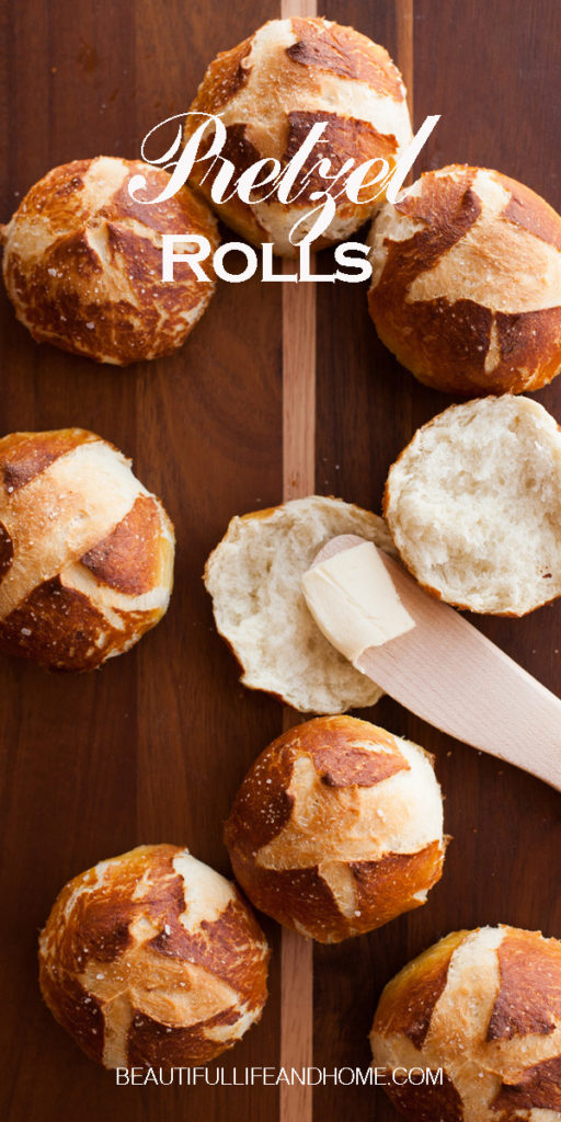 These amazing homemade pretzel rolls are the perfect Thanksgiving roll!