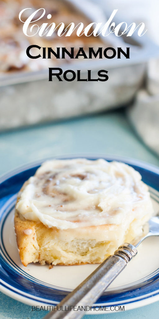 You can make Cinnabon Cinnamon Rolls right at home! Super soft and full of fantastic cinnamon flavor and topped with an amazing cream cheese frosting, these are the perfect cinnamon rolls! You can even prep them the day before and bake them in the morning so they'll be hot and fresh!