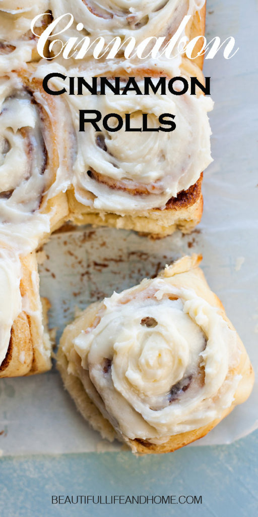 You can make Cinnabon Cinnamon Rolls right at home! Super soft and full of fantastic cinnamon flavor and topped with an amazing cream cheese frosting, these are the perfect cinnamon rolls for Christmas breakfast, Mother's Day, or any day of the year! You can even prep them the day before and bake them in the morning so they'll be hot and fresh!