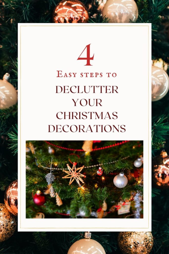 Do you have boxes and boxes of Christmas decorations that are a mess? Is it frustrating to decorate each year because you can't find what you're looking for? Follow these four easy steps to get your Christmas decorations organized so that getting your house ready for the holidays can be a truly joyful experience!