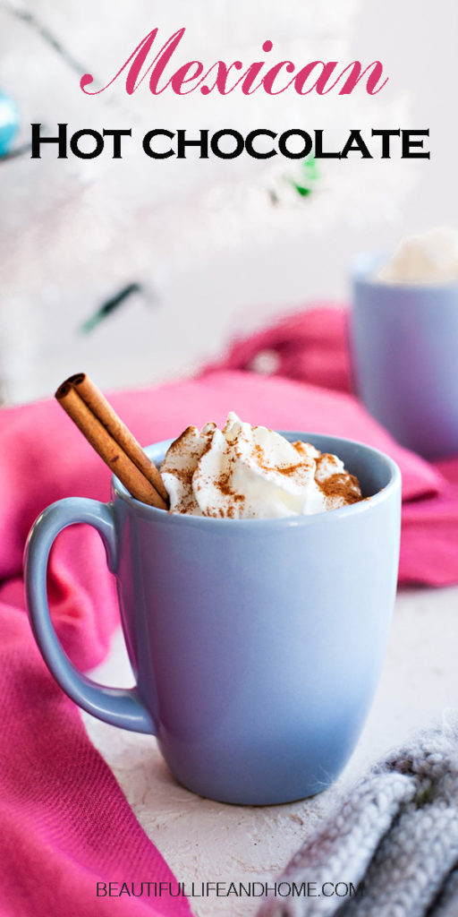 There is nothing more delicious than Mexican Hot Chocolate! Dark, rich, and flavored with cinnamon and vanilla, it'll bring your hot chocolate to the next level!